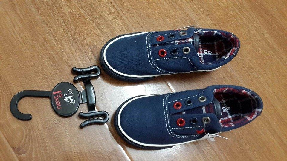 G103: Giầy Next BT xuất xịn - Dáng thể thao. Size 8 và 9/10 (bé 4 - 6t). 1 ri 7 đôi - CỰC ĐẸP