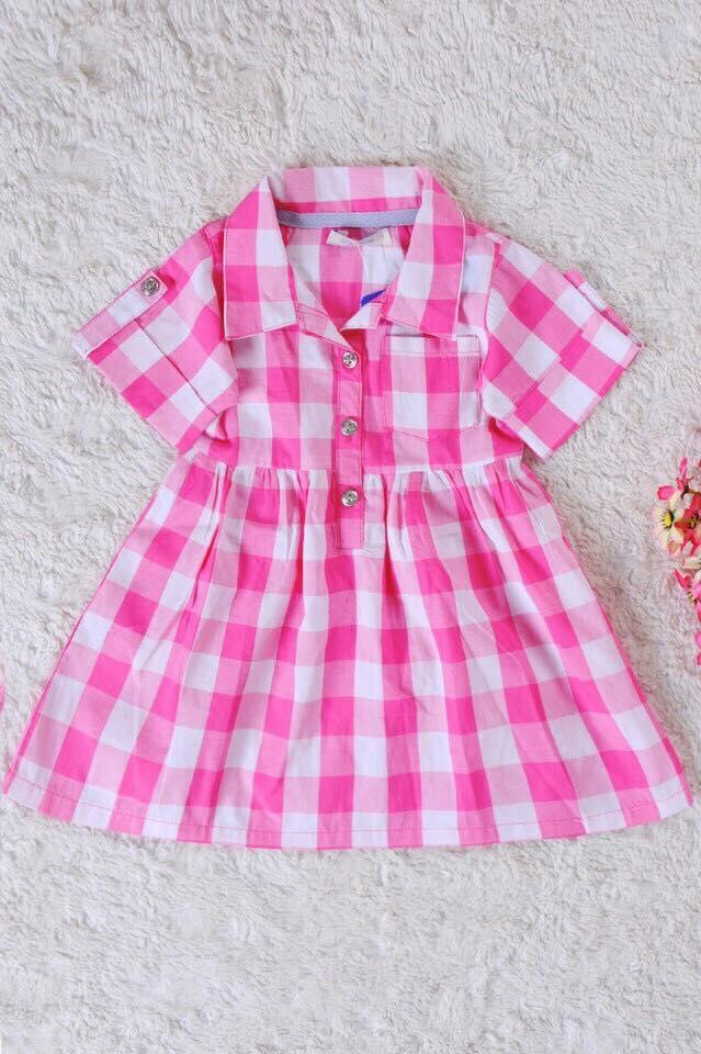 613Có 3 mầu: KẺ TÍM THAN/ KẺ HỒNG/ KẺ ĐỎ. Mẫu này bé mặc đi chơi hay đi học đều rất đẹp. HÀNG HOT.