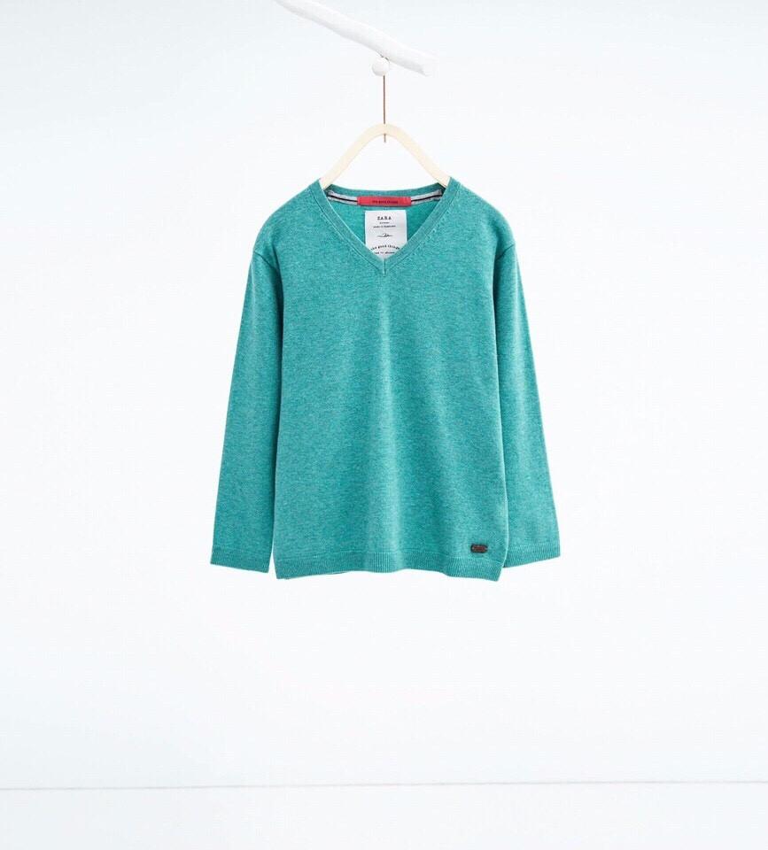 471  Size 2t đến 12/14t. 1 ri 12 áo trộn theo tỷ lệ (Màu tím than 70% - Màu xanh 30%)