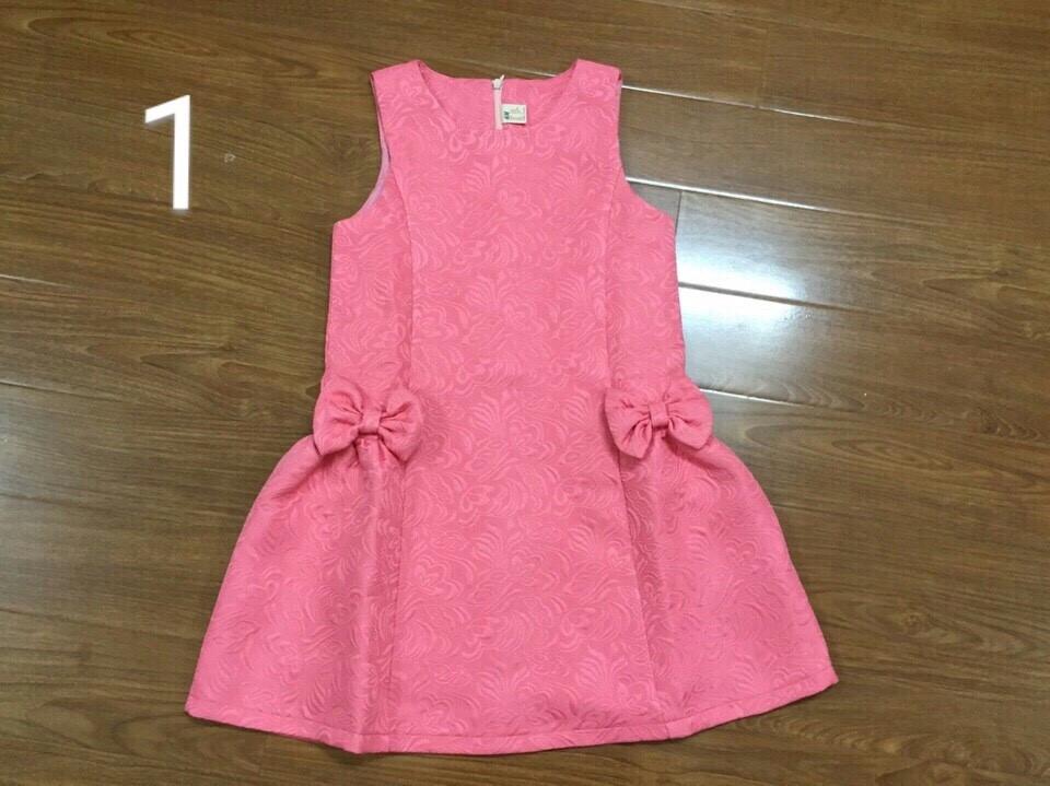 1080: 1 LÔ DUY NHẤT - VÁY GẤM SIZE ĐẠI BG - Size 8t - 12t. 1 ri 5 váy là 1 mầu